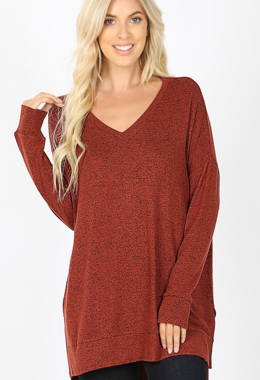 Brushed Melange Sweater