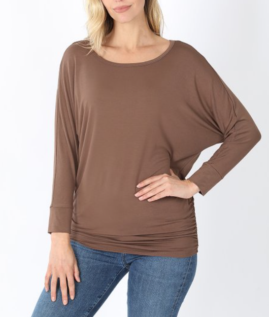 Side Ruched Top