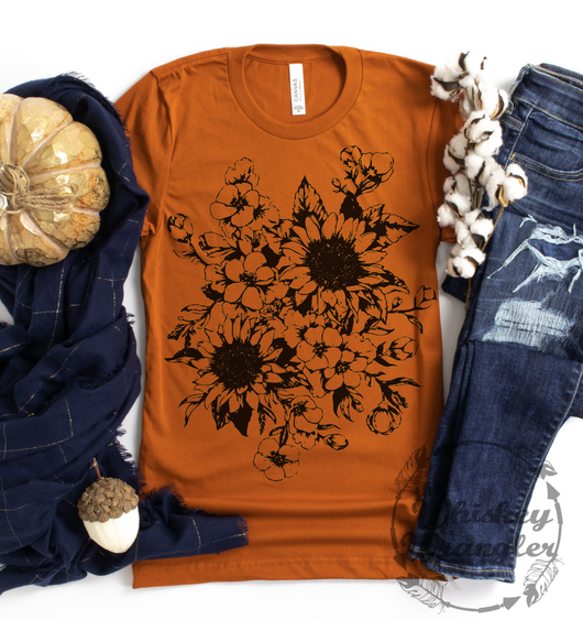 Autumn Sunflower Tee