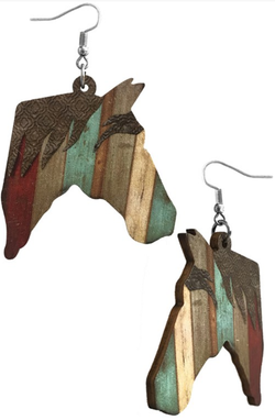 Wooden Farmhouse Friends Earrings