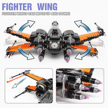 Laden Sie das Bild in den Galerie-Viewer, Star War First Order Poe's X-Wing Fighter Baustein Set kaufen