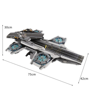 Marvel Super Heroes The SHIELD Helicarrier Baustein Modell kaufen