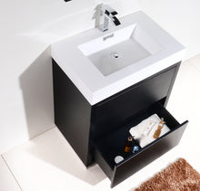 "KubeBath Bliss 30"" Black Free Standing Modern Bathroom Vanity"