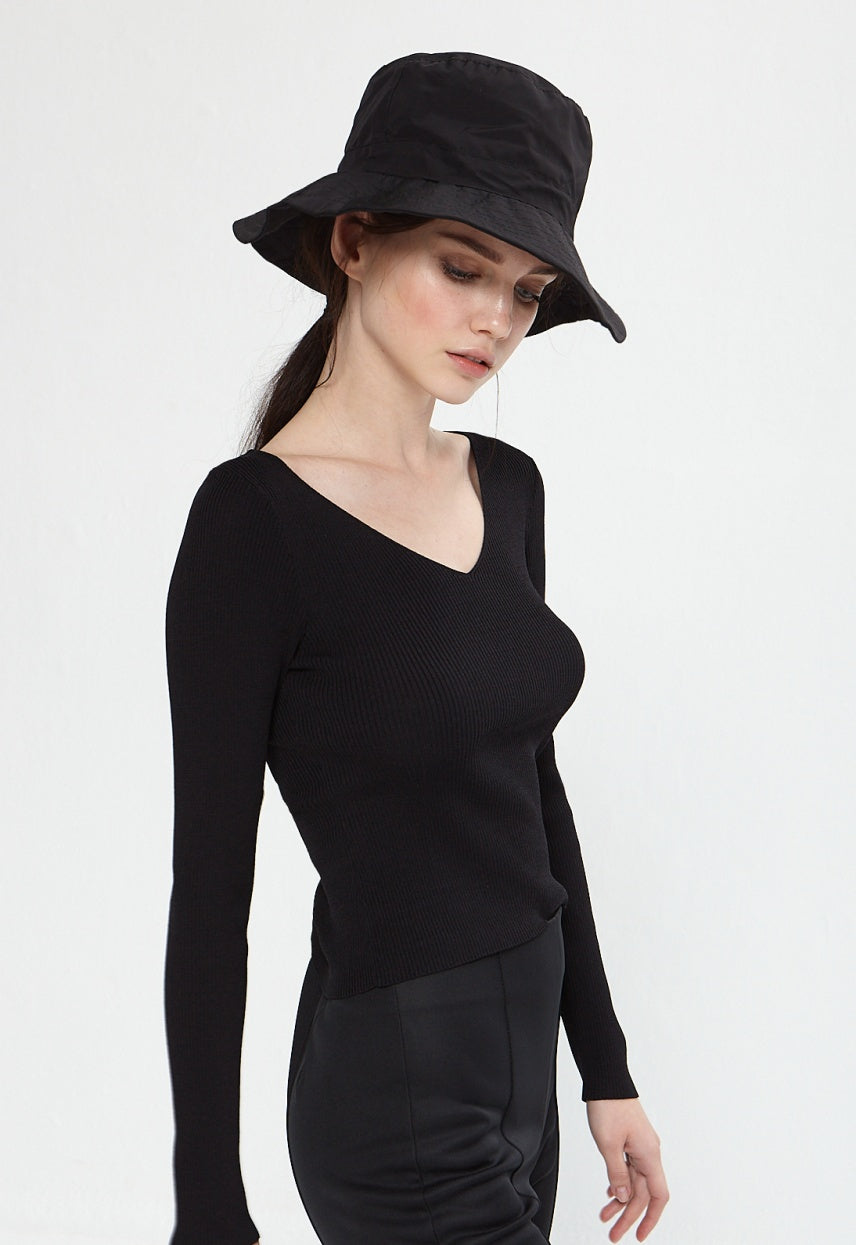 Lauren Black Top - Etxart & Panno USA