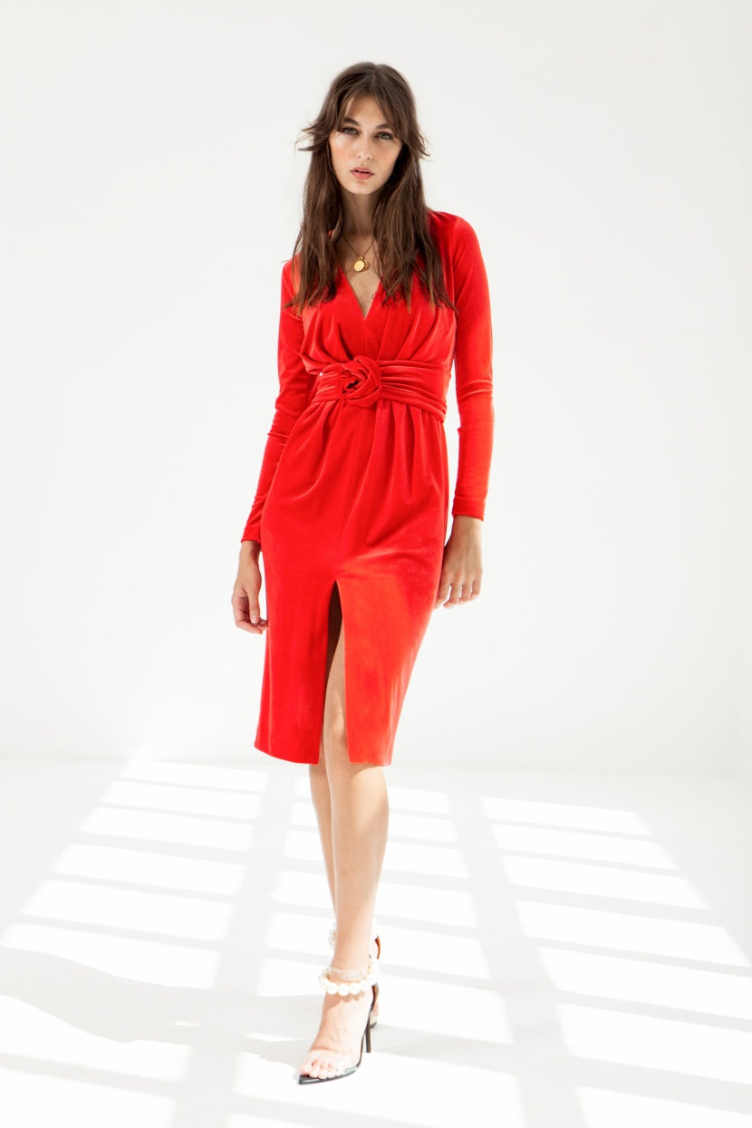 Melocoton Red Dress - Etxart & Panno USA