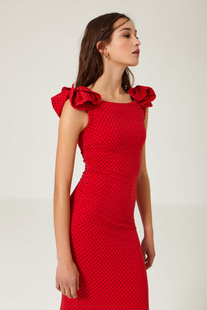 Cherry Red Dress - Etxart & Panno USA