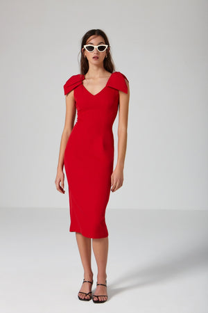 Macaron Red Dress - Etxart & Panno USA