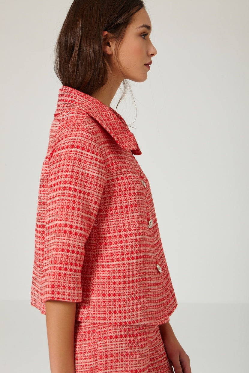 Jelly red jacket - Etxart & Panno USA