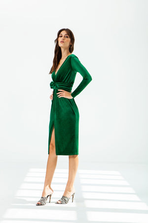 Melocoton Green Dress - Etxart & Panno USA