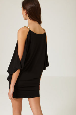 Canoli Black Dress - Etxart & Panno USA