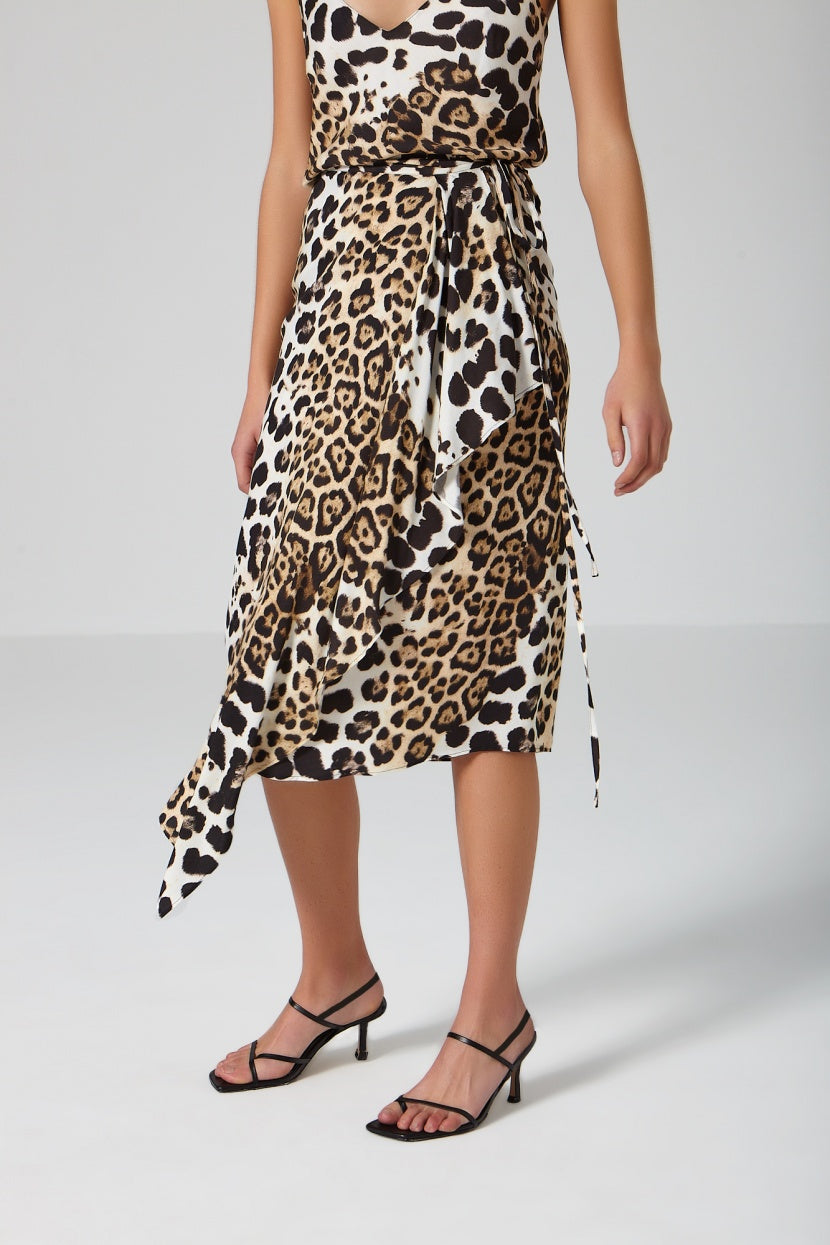 French Leopard Skirt - Etxart & Panno USA
