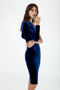 Pio Blue Dress - Etxart & Panno USA
