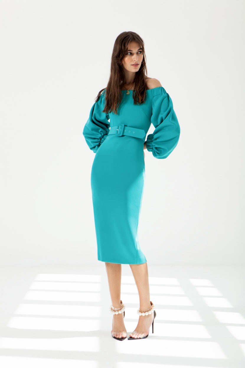 Lennon Blue Dress - Etxart & Panno USA