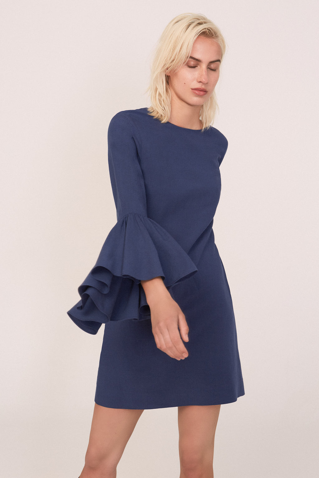 Neta Blue Dress - Etxart & Panno USA