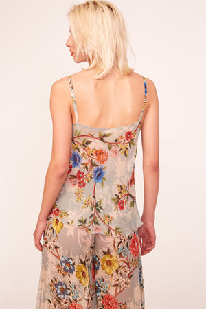 Recital Grey Floral Top - Etxart & Panno USA