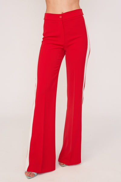 Bicolor Red Trousers