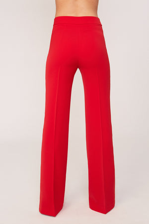 Bicolor Red Trousers - Etxart & Panno USA