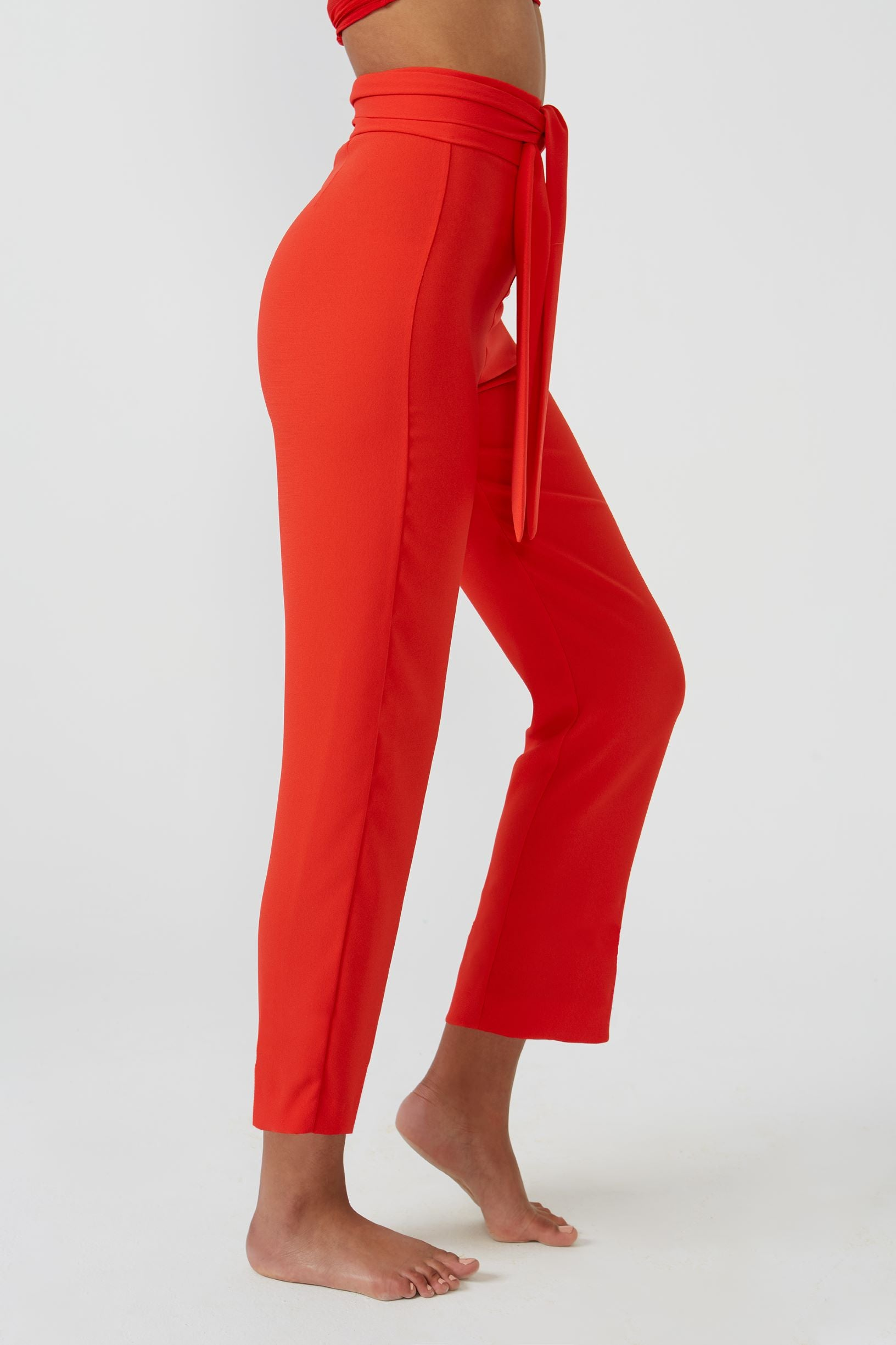 Oasis Red Trousers - Etxart & Panno USA