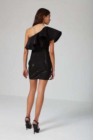 Granizado black dress - Etxart & Panno USA