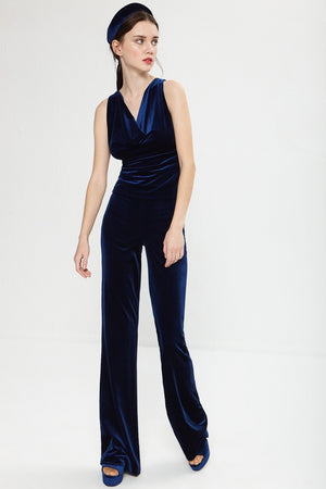 Cayena blue trousers - Etxart & Panno USA