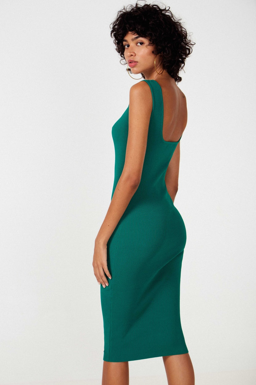 Kwait Green Dress - Etxart & Panno USA