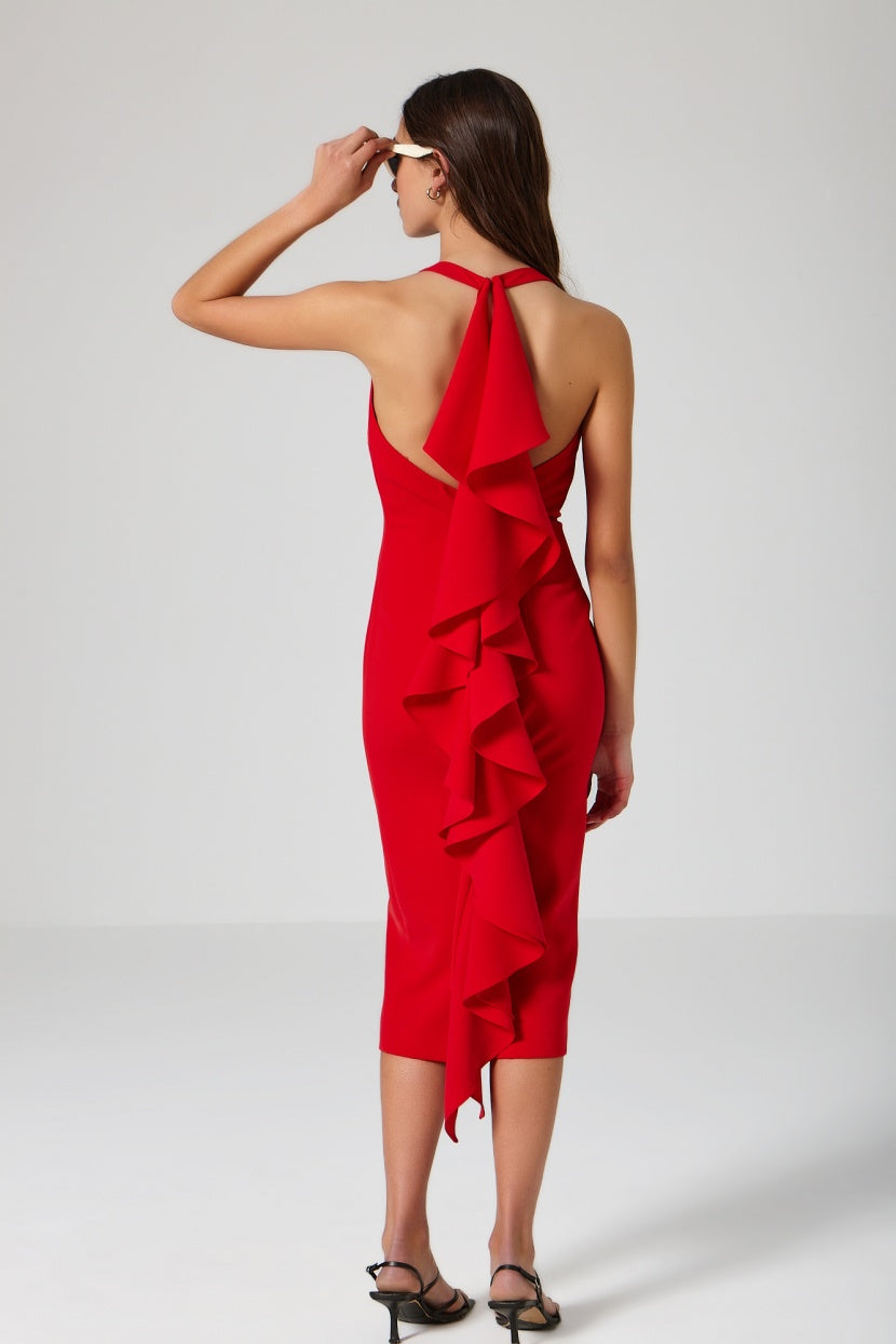Sunset Dress red - Etxart & Panno USA