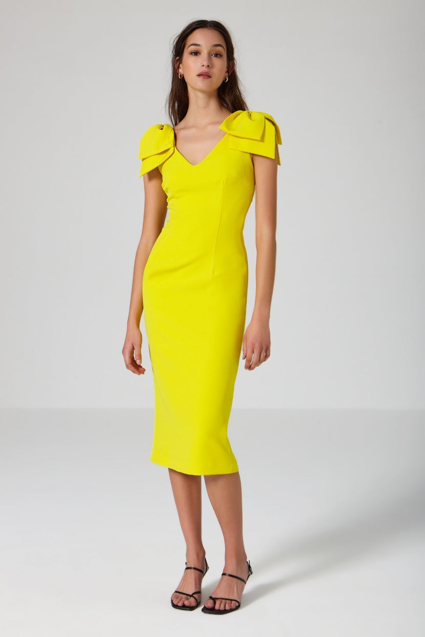 Macaron Dress yellow - Etxart & Panno USA