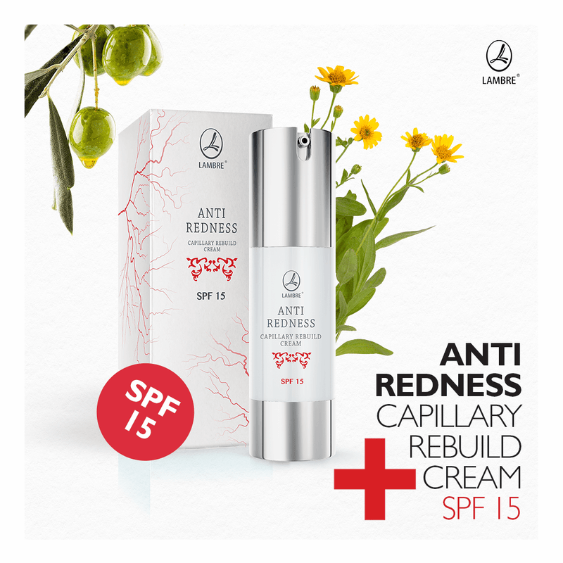 Antiredness Capillary Rebuild Cream with SPF 15, Antiredness Line