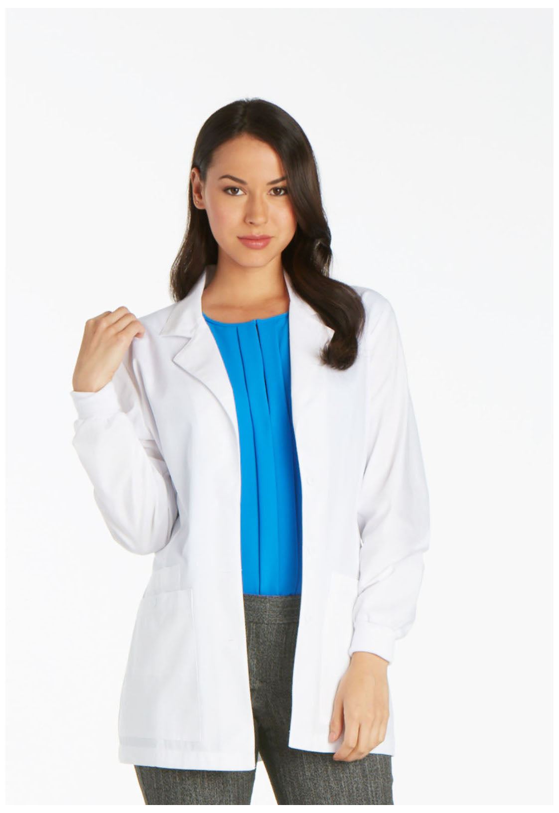 "Cherokee 30"" Women's Elastic Back Lab Coat 1302"