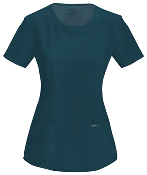 Cheorkee Antimicrobial Round Neck Scrub Top