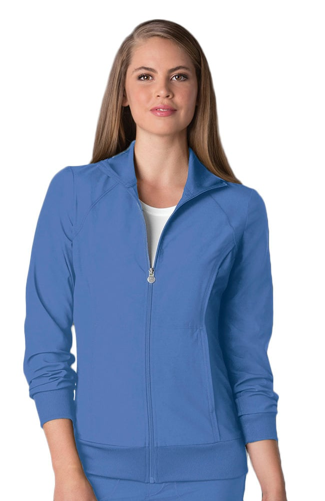 Cherokee Women's Antimicrobial Zipper Warm-Up Scrub Jacket 2391A