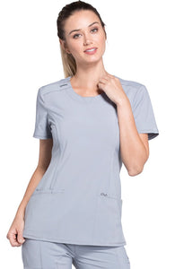 Cheorkee Antimicrobial Round Neck Scrub Top 2624A