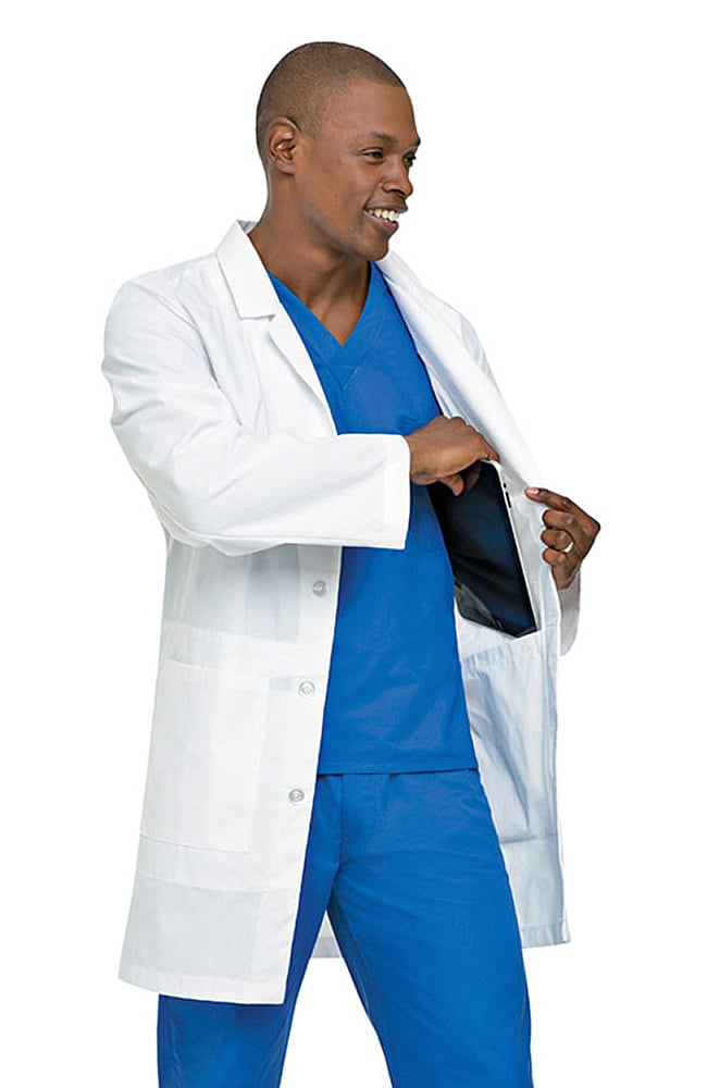 "Landau Men's 36"" Notebook Lab Coat 3174"