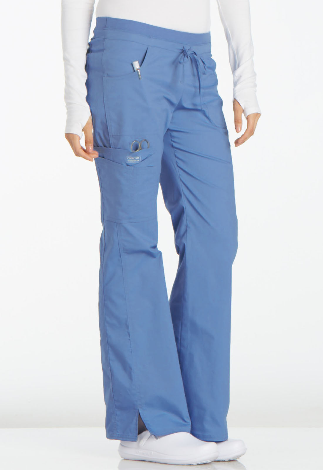 Cherokee Women's Mid Rise Stretch Cargo Pants 24001