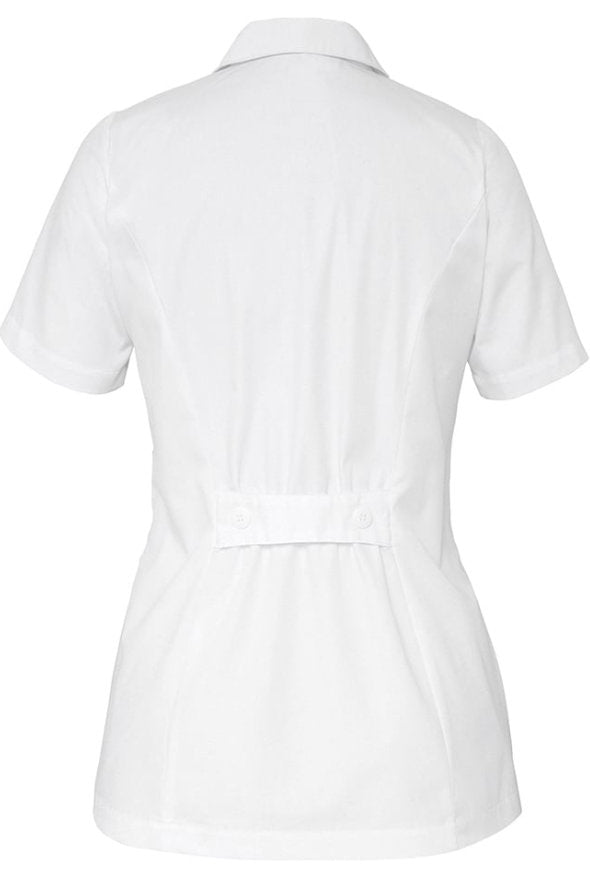 Adar Women's Lapel Collar Buttoned Scrub Top 2629