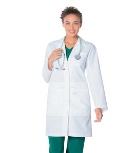 "Landau 37"" Ladies Traditional Notebook Lab Coat 3165"