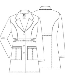 "Ladies 36"" Tab-Waist Lab Coat by Adar 3304"