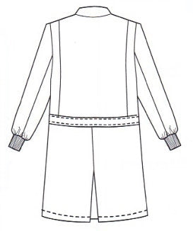 Meta Fluid Resistant X-Static Lab Coat 11653