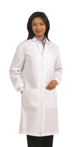 Fashion Seal Snap Front Unisex Lab Coat 439