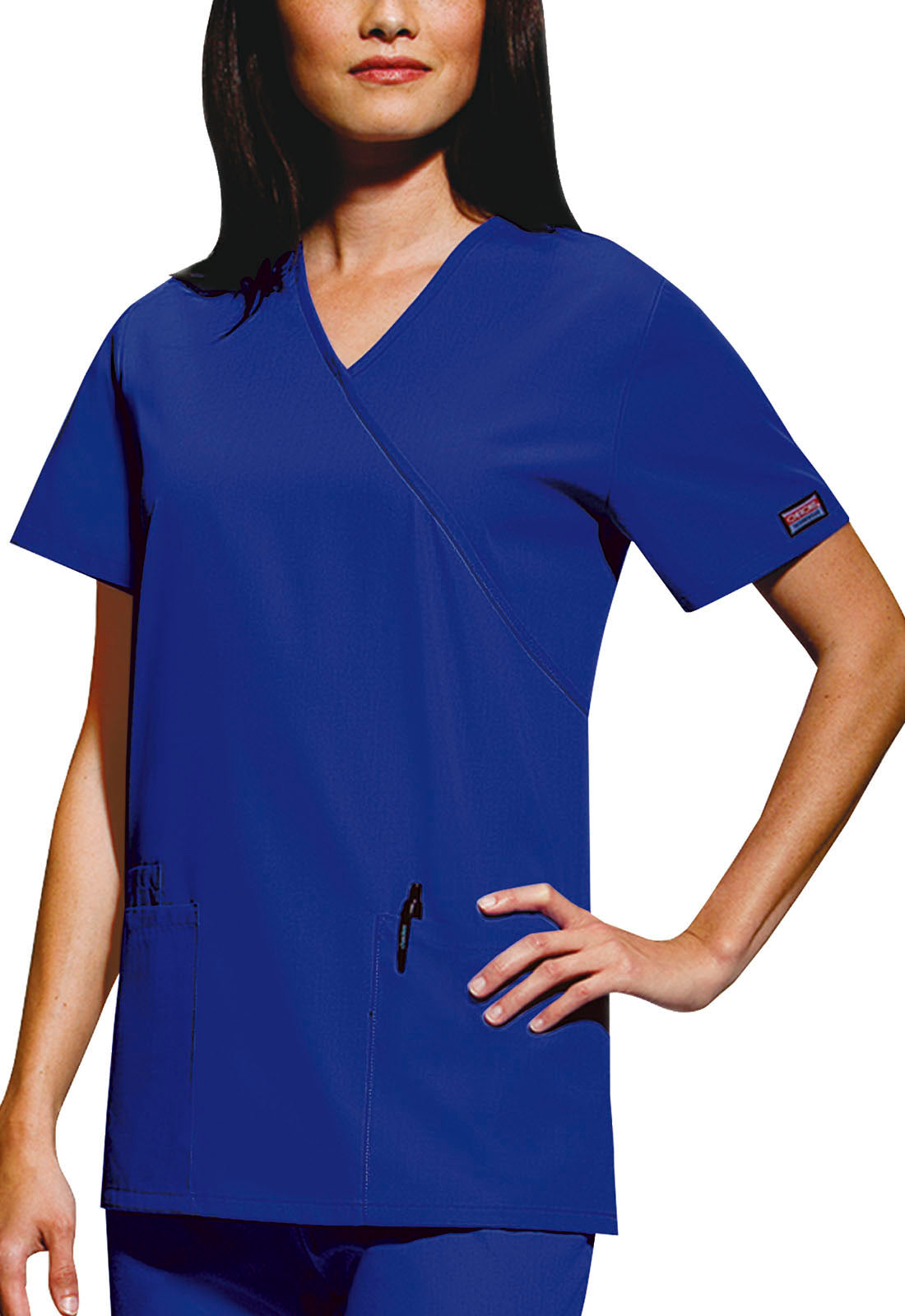 Cherokee Women's Mock Wrap Tunic Scrub Top 4801