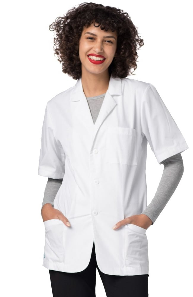 "Adar 31"" Unisex Short Sleeve Lab Coat 2816"