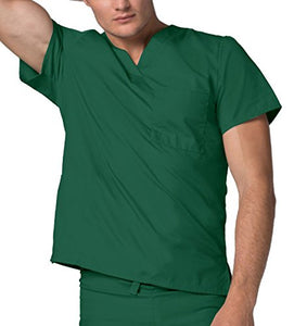 Adar Unisex V-Neck Tunic 1 Pocket Scrub Top 6011