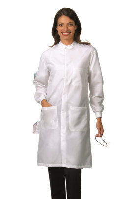 Fashion Seal Fluid Resistant Unisex Snap Lab Coat 6418
