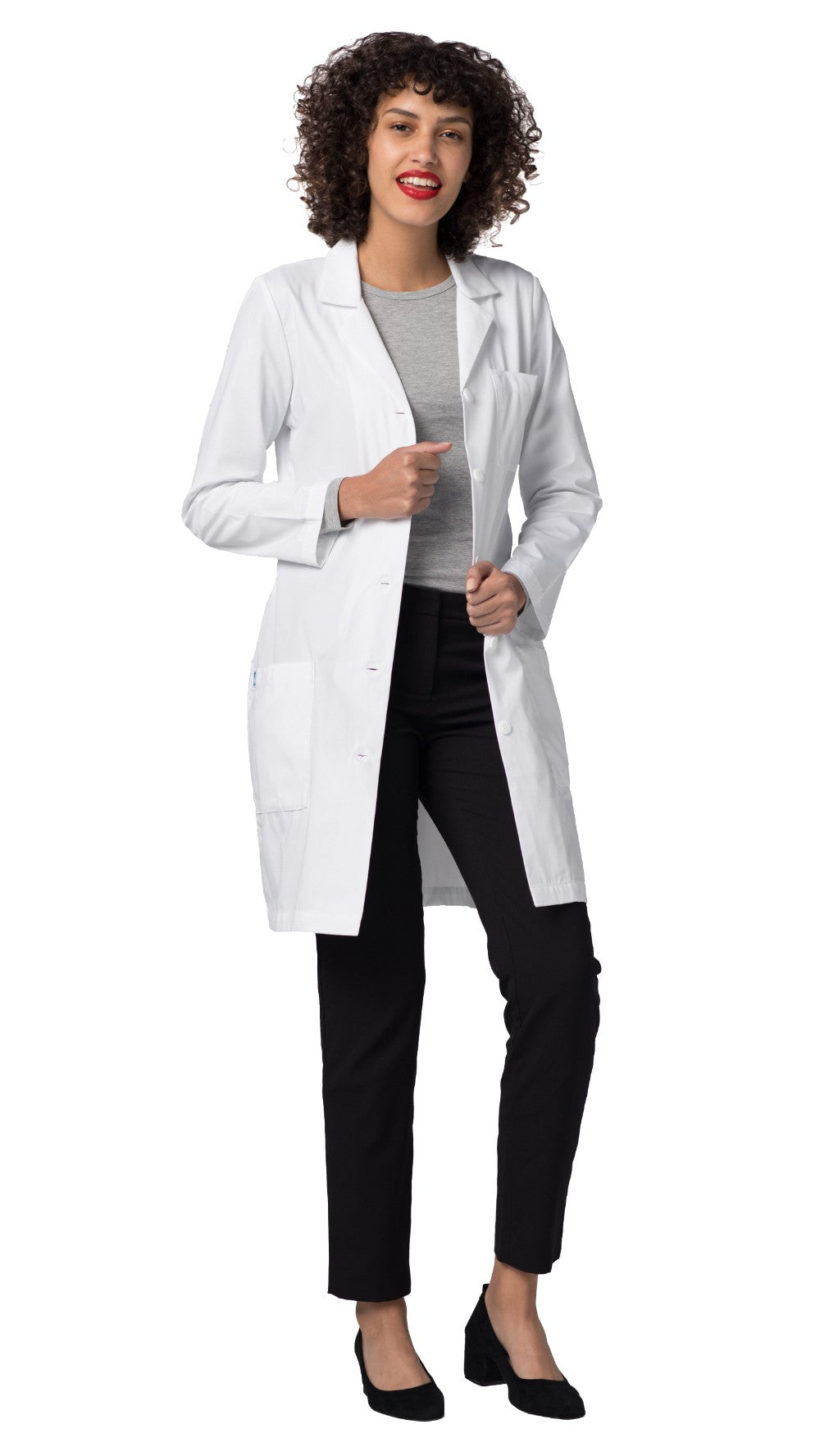 "Adar Women's 36"" Slim-Fit Lab Coat 804"