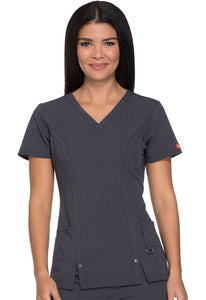Dickies Xtreme Stretch Women's V-Neck Scrub Top 82851