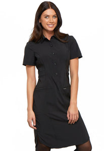 Cherokee Infinity Antimicrobial Collar Button Front Dress CK510A
