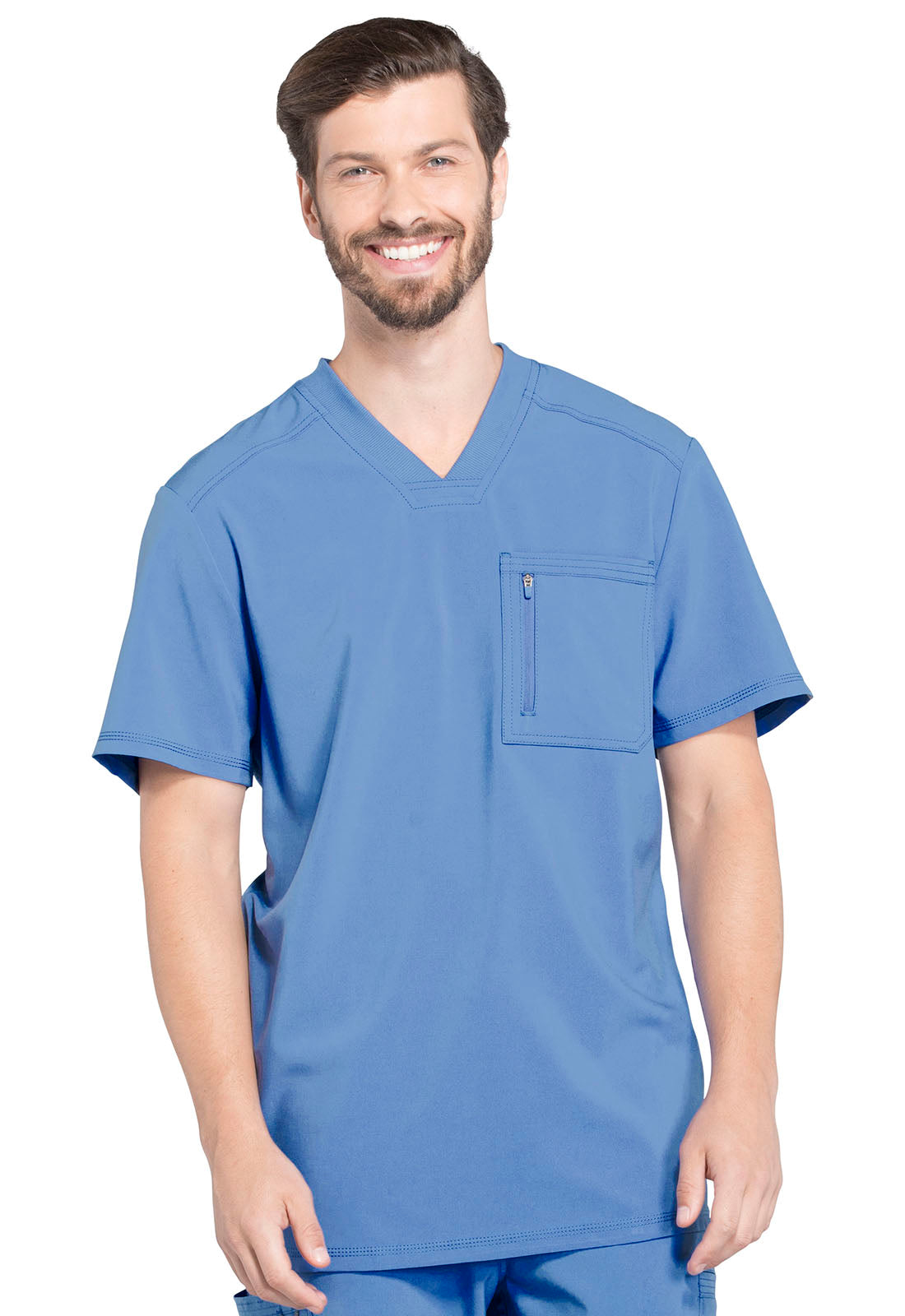 Cherokee Men's Antimicrobial Athletic Scrub Top ck910A