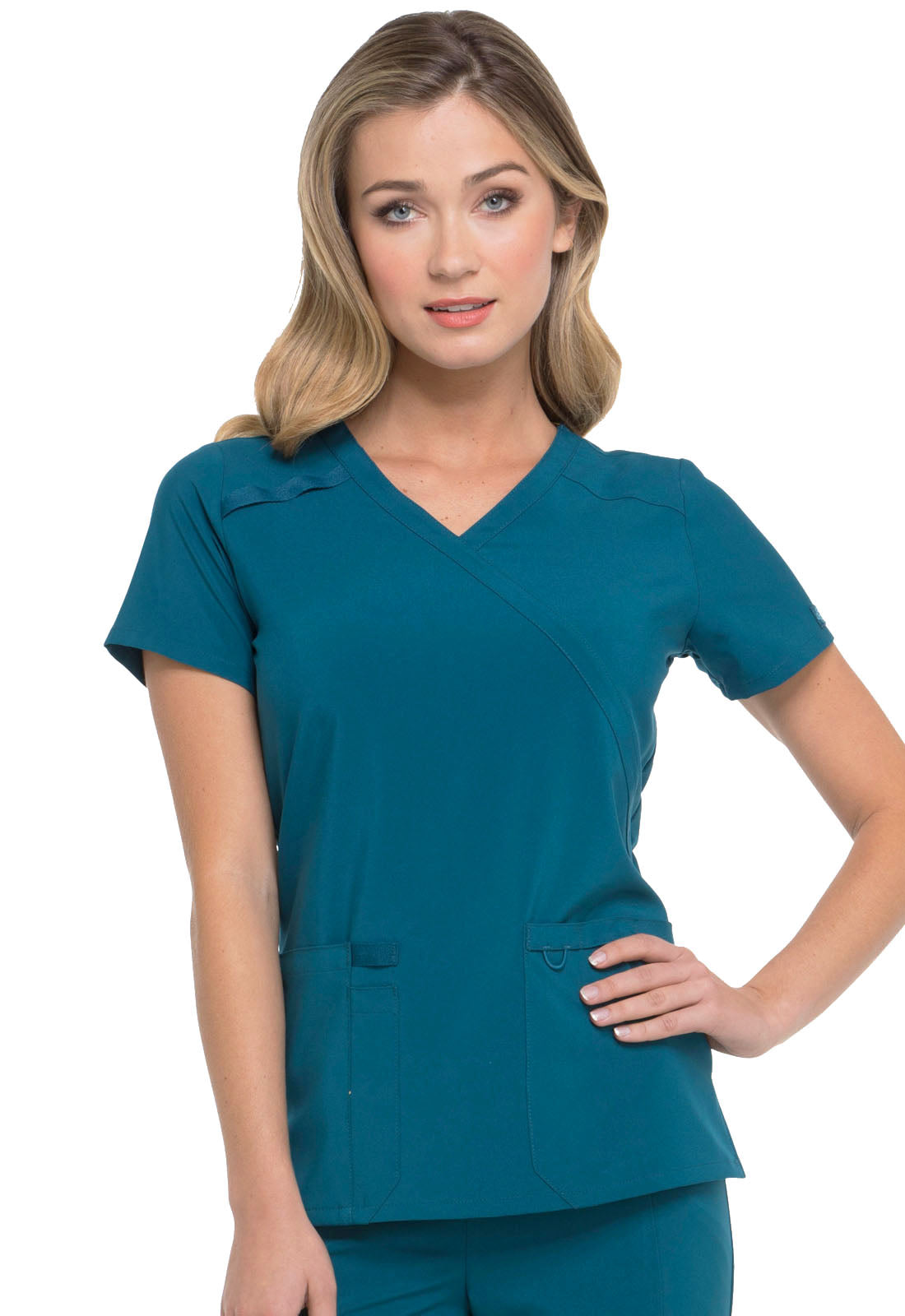 Dickies Essentials Women's Mock Wrap top