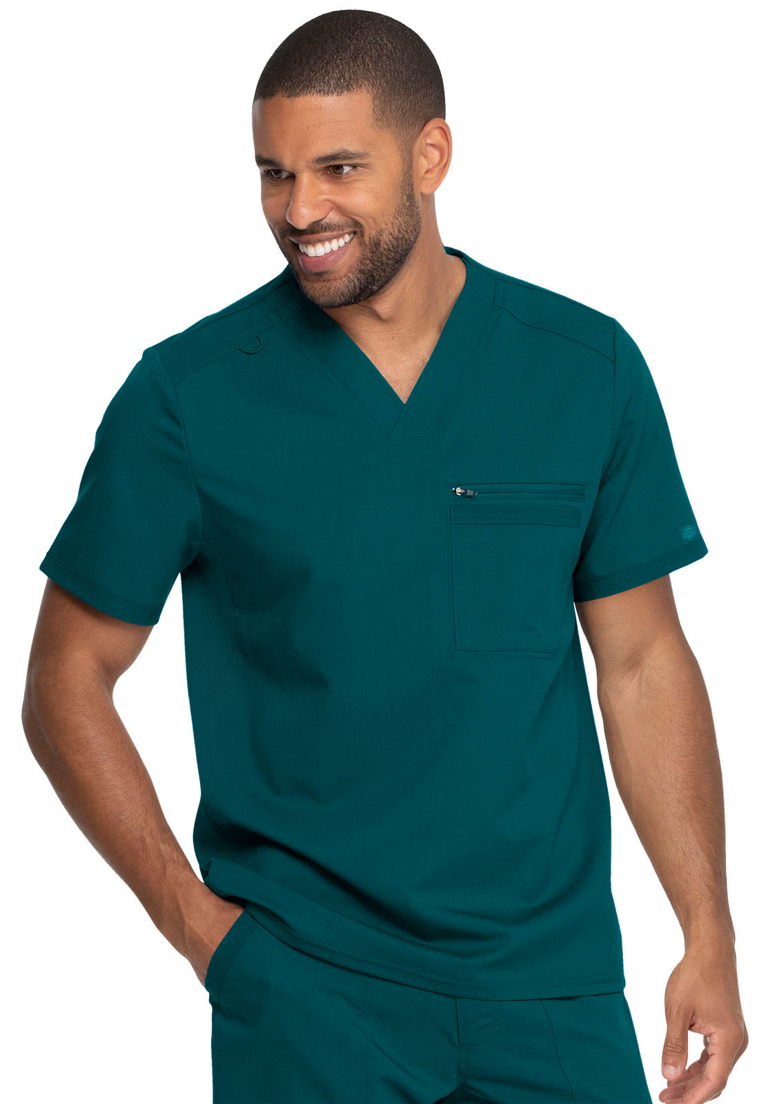 Dickies Men's Solid V-Neck Scrub Top DK865