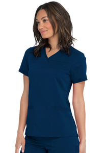 Dickies Ladies Balance V-Neck Scrub Top With Rib Knit Panels DK870